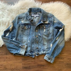 Express Frayed Jean Jacket